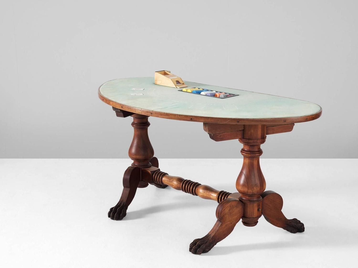Antique blackjack table