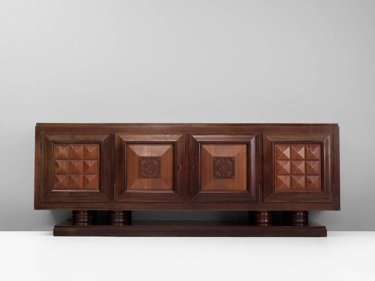 Gaston Poisson Large Art-Deco Credenza 2