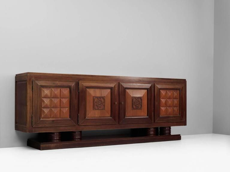 Gaston Poisson Large Art-Deco Credenza 3