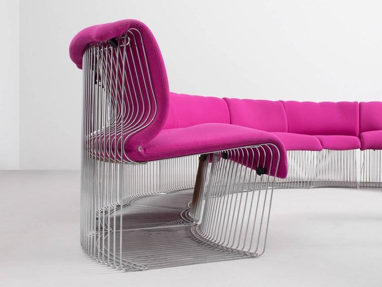 Mid-Century Modern Verner Panton 'Pantonova' Sectional Sofa for Fritz Hansen For Sale