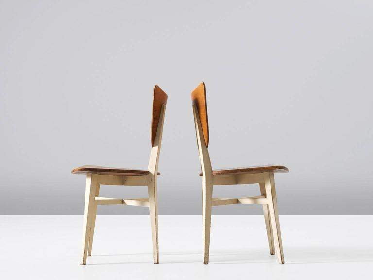 European Set of Four Dining Chairs in Beech For Sale