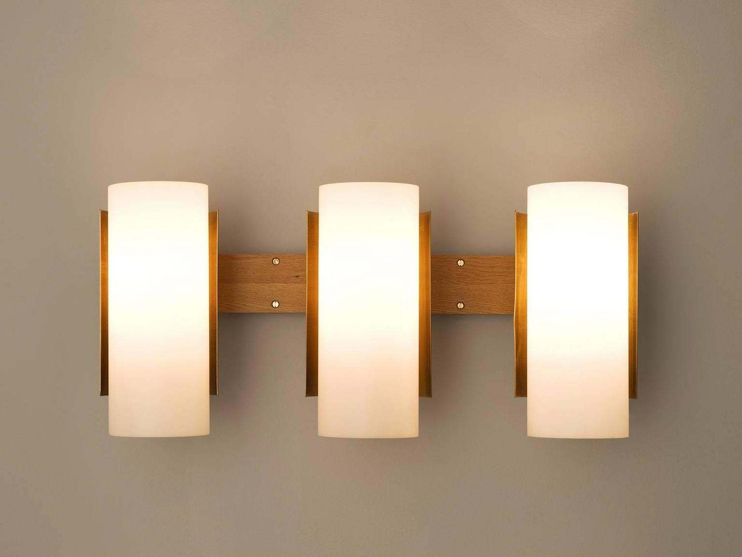 Small White Wall Lights : Set of Eight Very Large Swedish Wall Lights in Brass For Sale at 1stdibs
