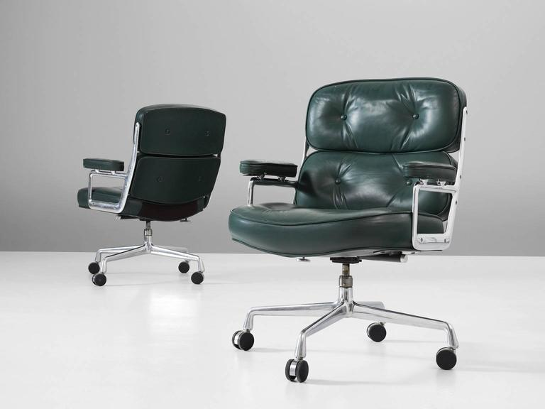 classic office chairs. Wonderful Office Set Of Two Desk Chairs In Leather And Metal By Charles U0026amp Ray To Classic Office Chairs