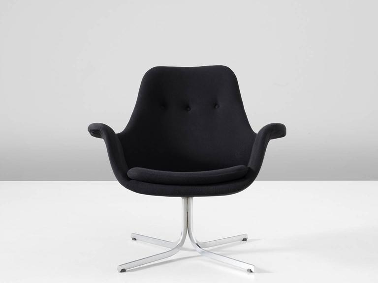 Pierre paulin rare black 39 tulip 39 chair for artifort for sale at 1stdibs - Tulip chairs for sale ...