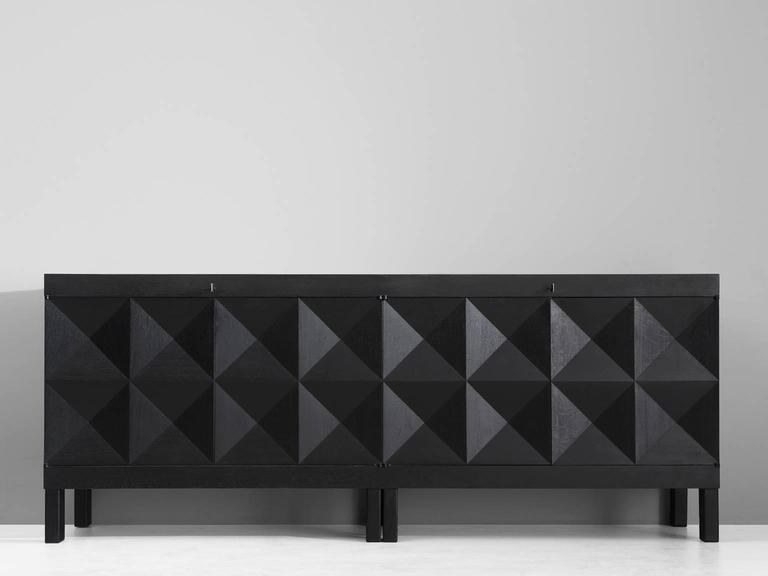 De Coene Black Brutalist Sideboard 2 - De Coene Black Brutalist Sideboard For Sale At 1stdibs