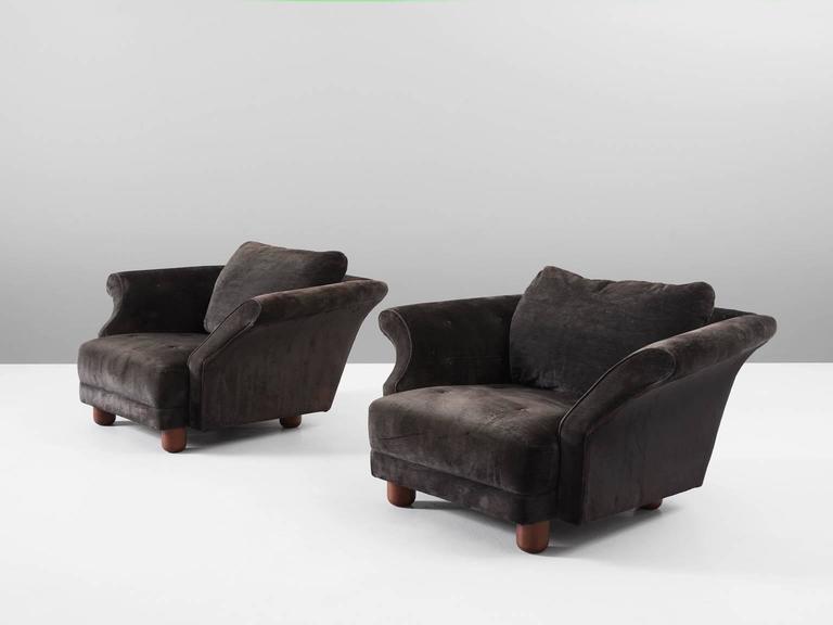 Scandinavian Modern Josef Frank Pair Of U0027Liljevalchsu0027 Lounge Chairs ...