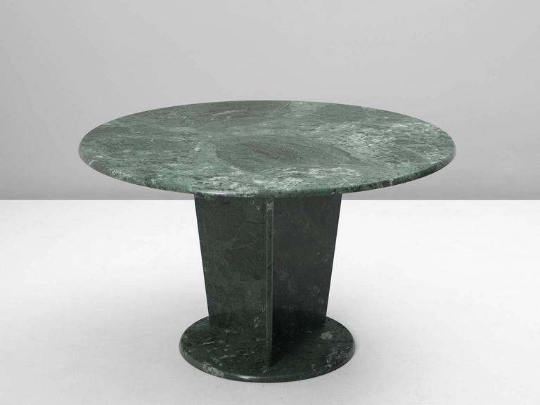 Round Green Marble : Round green marble center table at stdibs