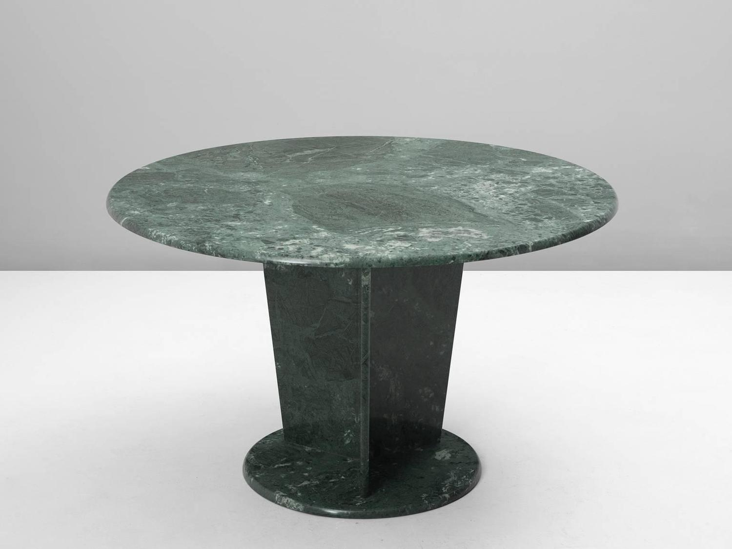 Round Green Marble : Round green marble center table for sale at stdibs
