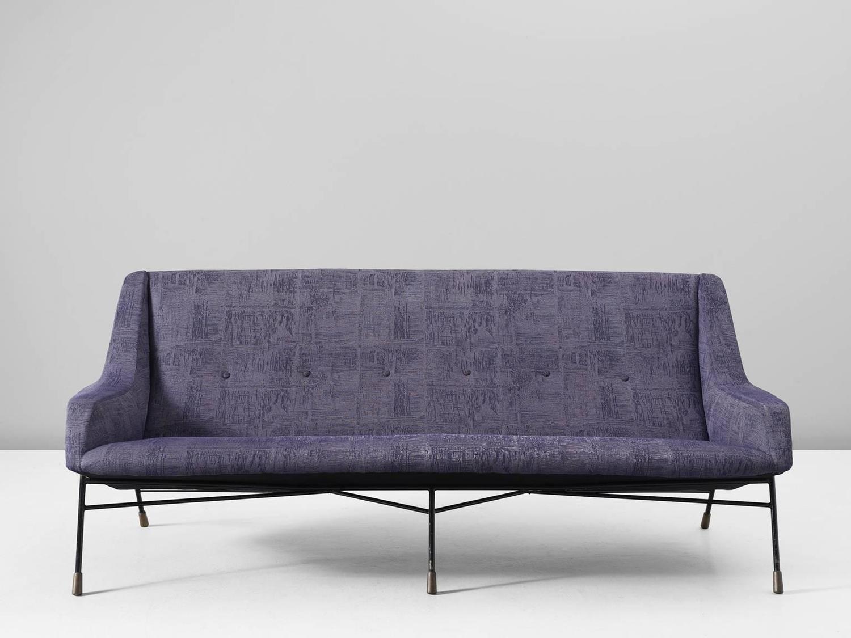 Alfred hendricks rare purple sofa for belform belgium for for Hendricks furniture