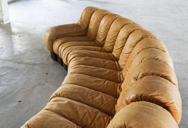 Excellent De Sede Ds 600 Non Stop Sectional Sofa In Cognac Leather For Caraccident5 Cool Chair Designs And Ideas Caraccident5Info