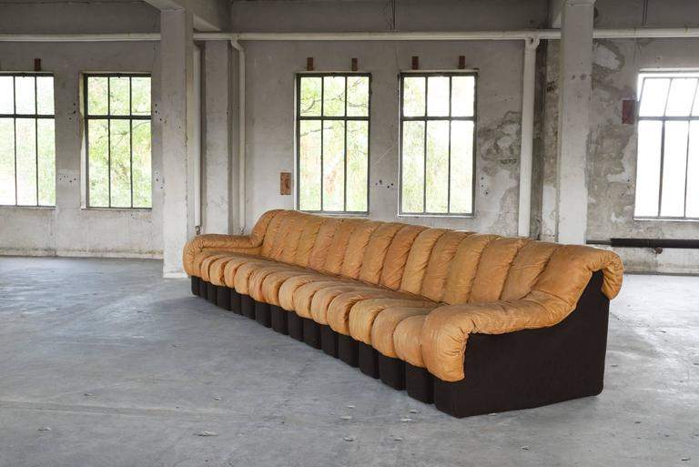 Wondrous De Sede Ds 600 Non Stop Sectional Sofa In Cognac Leather For Caraccident5 Cool Chair Designs And Ideas Caraccident5Info