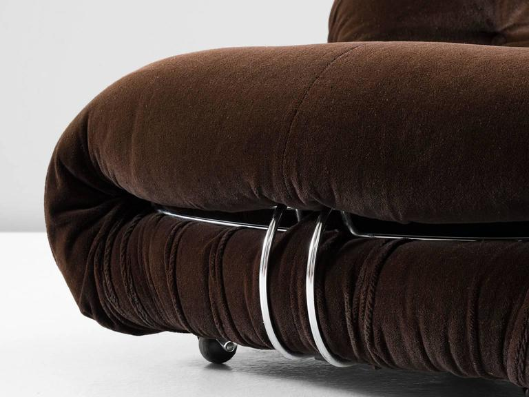 Afra & Tobia Scarpa 'Soriana' Lounge Chair and Ottoman In Excellent Condition For Sale In Waalwijk, NL