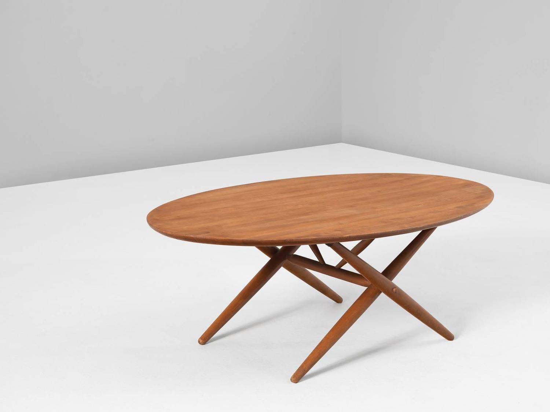 Extreme Rare Ilmari Tapiovaara Coffee Table in Teak For ...