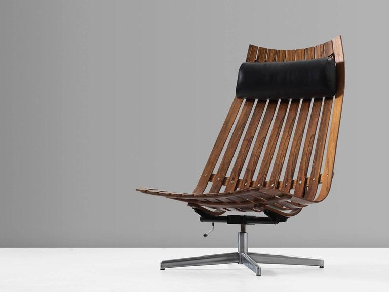 Hans Brattrud Swivel 39 Scandia 39 Lounge Chair In Rosewood For Sale At 1