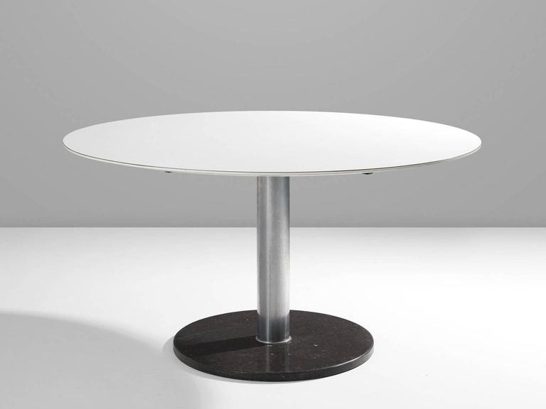 Dining Table, In Wood, Metal And Marble, By Alfred Hendrickx For Belform,