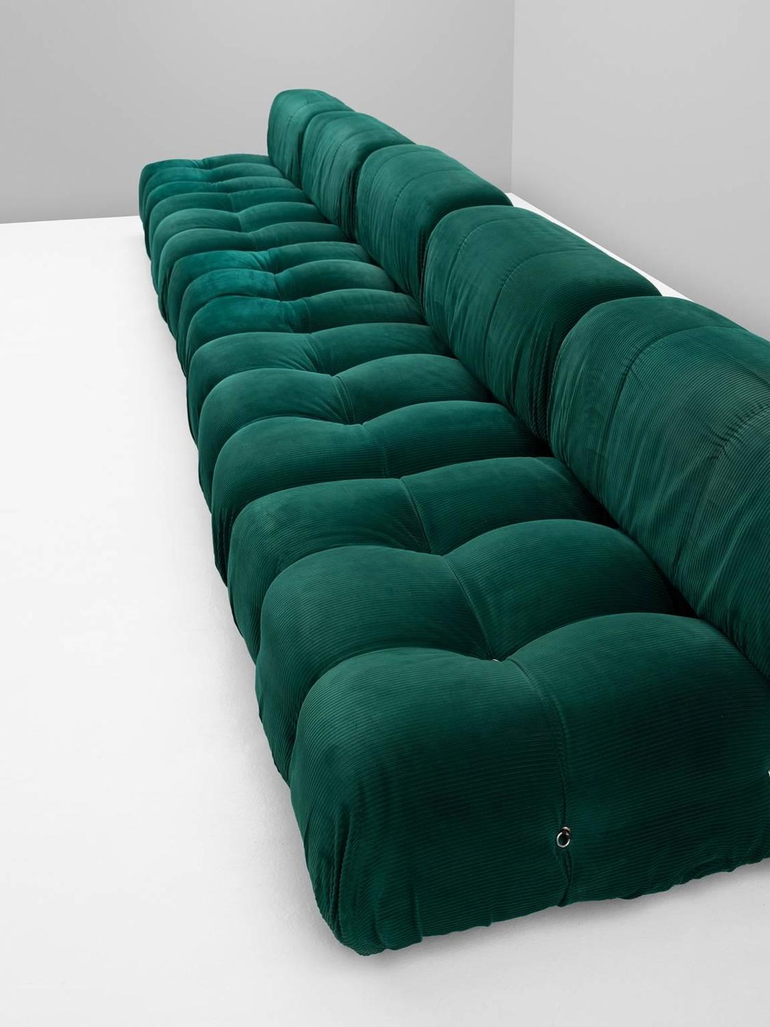 mario bellini camaleonda modular sofa in original green. Black Bedroom Furniture Sets. Home Design Ideas