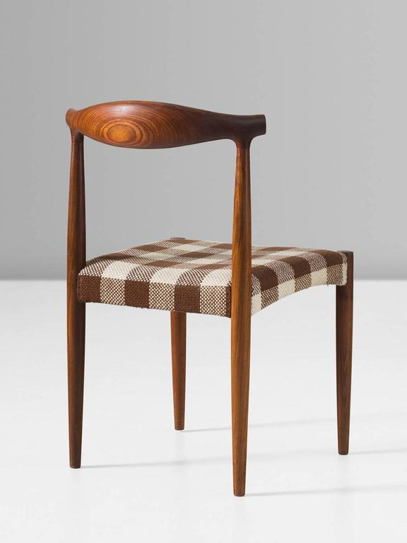 Mid-20th Century Set of Four Danish Dining Room Chairs in Rosewood  For Sale