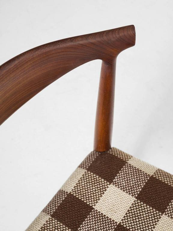 Fabric Set of Four Danish Dining Room Chairs in Rosewood  For Sale