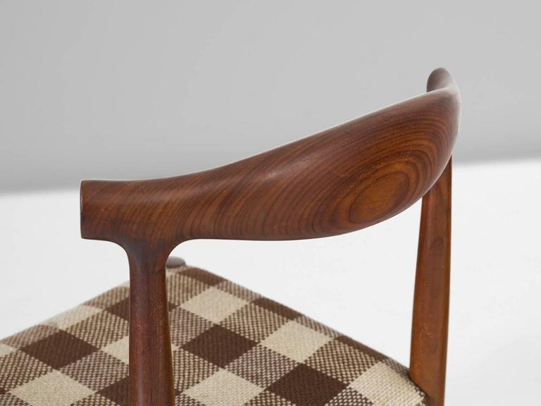 Set of Four Danish Dining Room Chairs in Rosewood  7