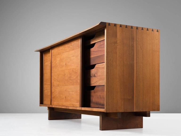 George Nakashima Two Sliding Door Cabinet In Walnut For Sale At 1stdibs
