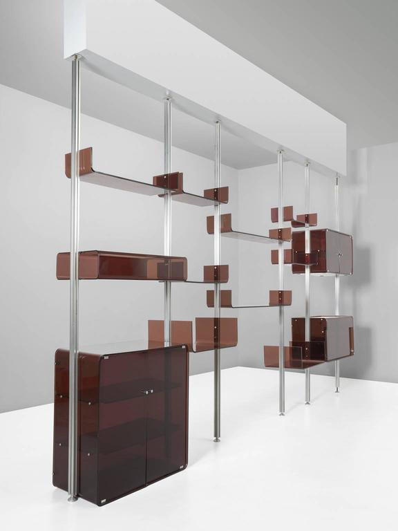 Michel Ducaroy Modular Wall Unit in Acrylic and Aluminum for Roche Bobois  2