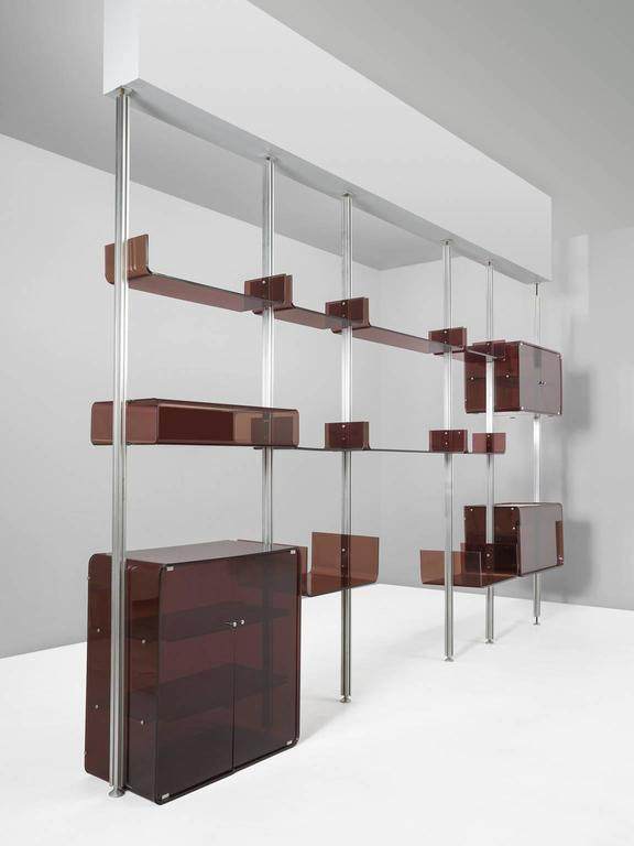 Michel Ducaroy Modular Wall Unit in Acrylic and Aluminum for Roche Bobois  3