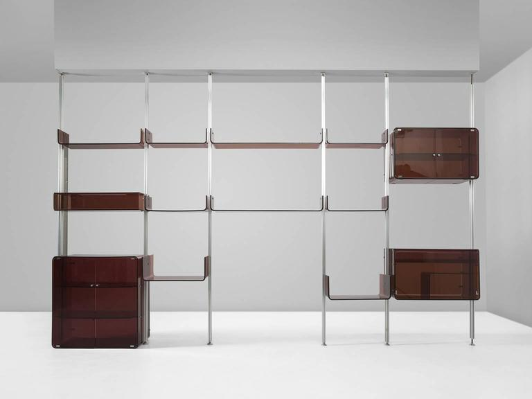Michel Ducaroy Modular Wall Unit in Acrylic and Aluminum for Roche Bobois  4
