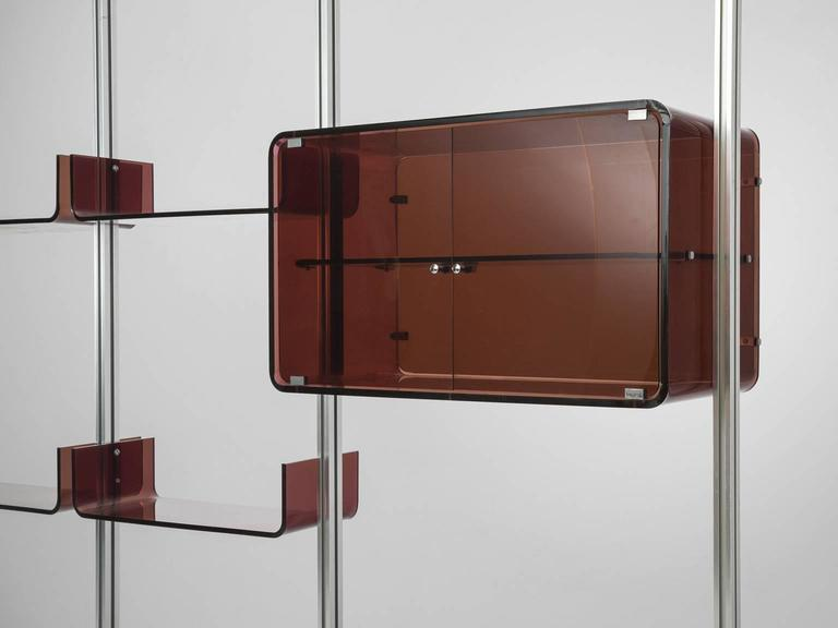 Michel Ducaroy Modular Wall Unit in Acrylic and Aluminum for Roche Bobois  6