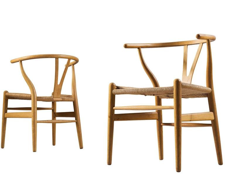 Two Wishbone CH24 Hans Wegner Y Chairs 6