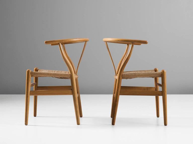 Two Wishbone CH24 Hans Wegner Y Chairs 2