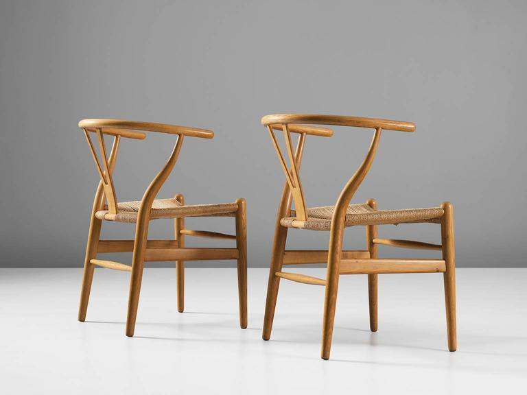 Two Wishbone CH24 Hans Wegner Y Chairs 3