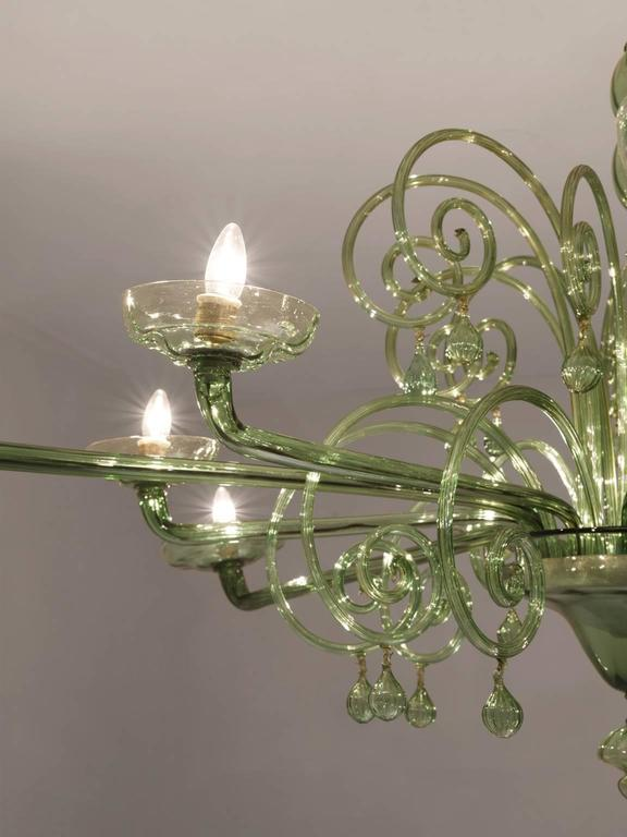 Large Venini with Murano Glass Chandelier, 1930s In Good Condition For Sale In Waalwijk, NL