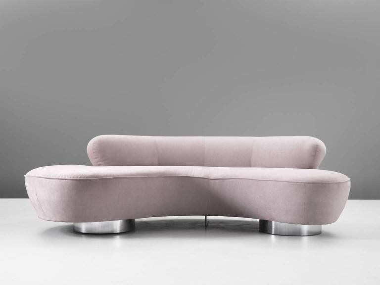 Vladimir Kagan Sofa In Light Pink For Sale At 1stdibs