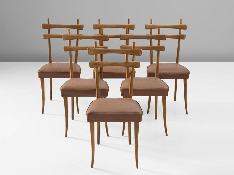 Italian Dining Chairs in Oak 4