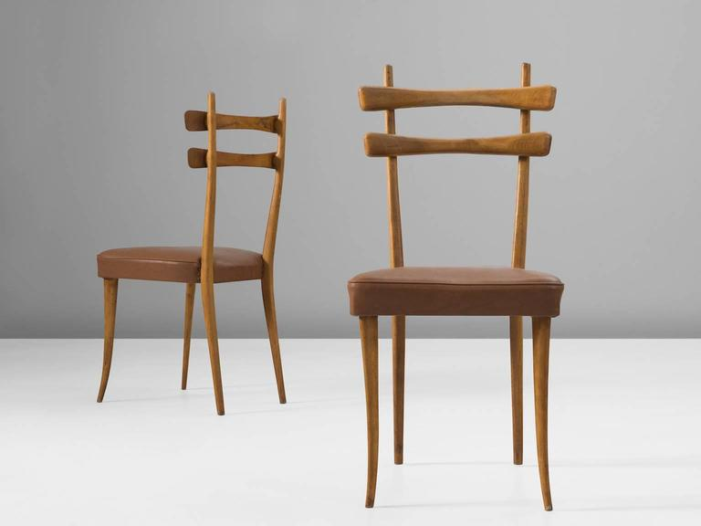 Italian Dining Chairs in Oak 5