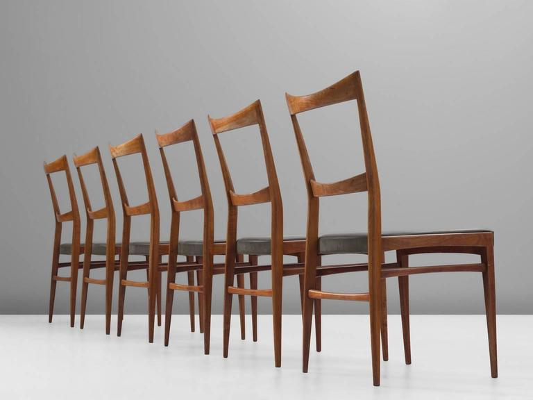 Scandinavian Modern Scandinavian Dining Chairs in Walnut For Sale