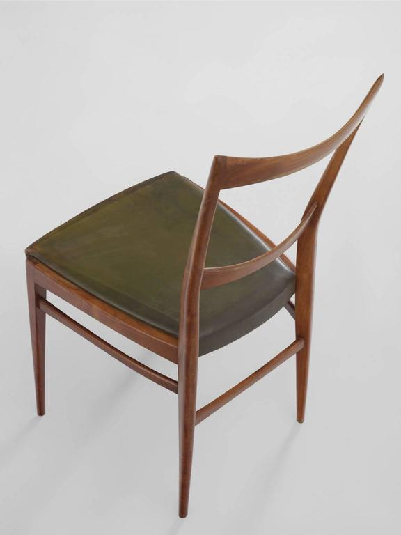 Mid-20th Century Scandinavian Dining Chairs in Walnut For Sale