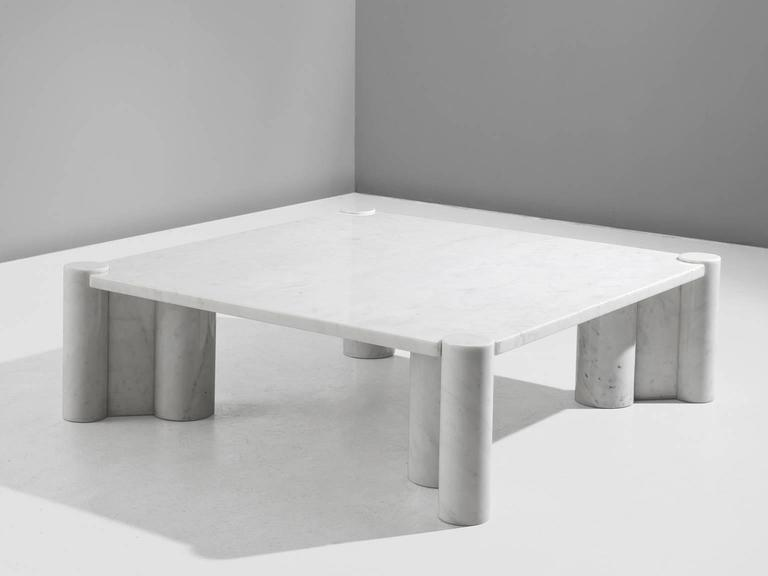 Coffee Table Jumbo In Carrara Marble By Gae Aulenti For Knoll For Sale At 1stdibs