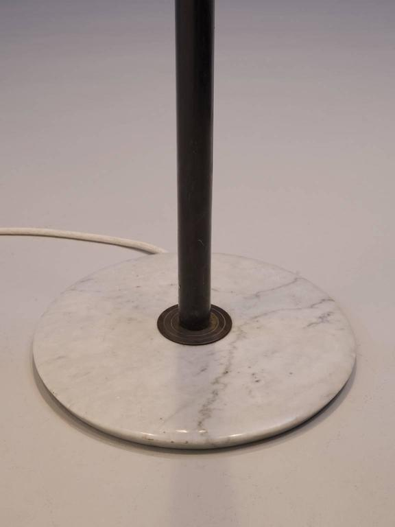 Stilnovo Floor Lamp in Marble and Brass In Good Condition For Sale In Waalwijk, NL