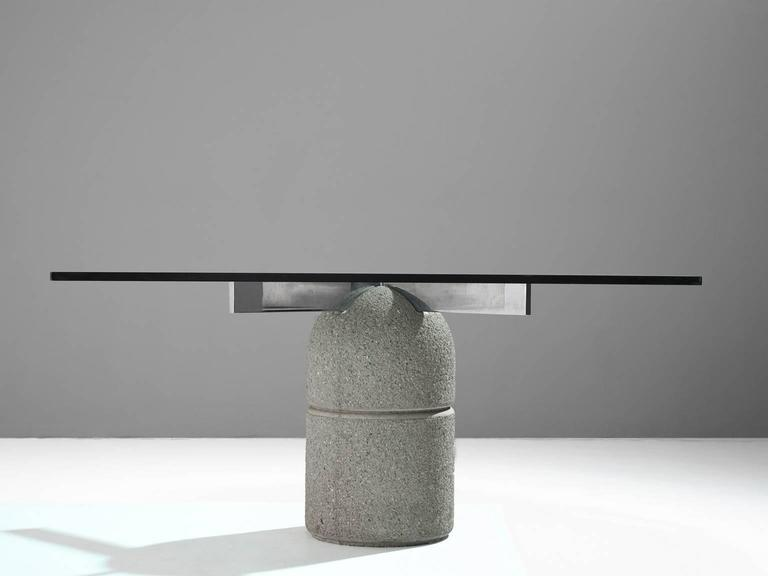Post-Modern Giovanni Offredi Dining Table for Saporiti For Sale