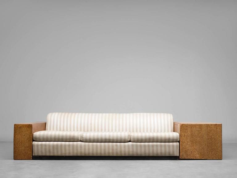 American Paul T. Frankl Custom-Built Art Deco Sofa, 1930