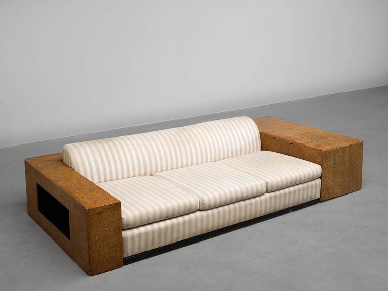 Enameled Paul T. Frankl Custom-Built Art Deco Sofa, 1930