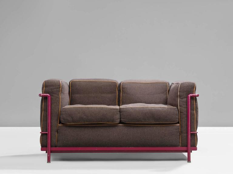 le corbusier perriand and jeanneret lc2 sofa for cassina. Black Bedroom Furniture Sets. Home Design Ideas
