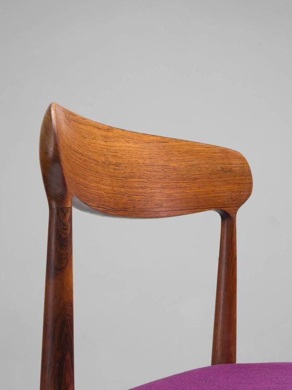 Mid-20th Century Johannes Andersen Dining Chairs in Rosewood For Sale