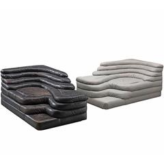 De Sede 'Terrazza' Landscape in Grey and Black Leather