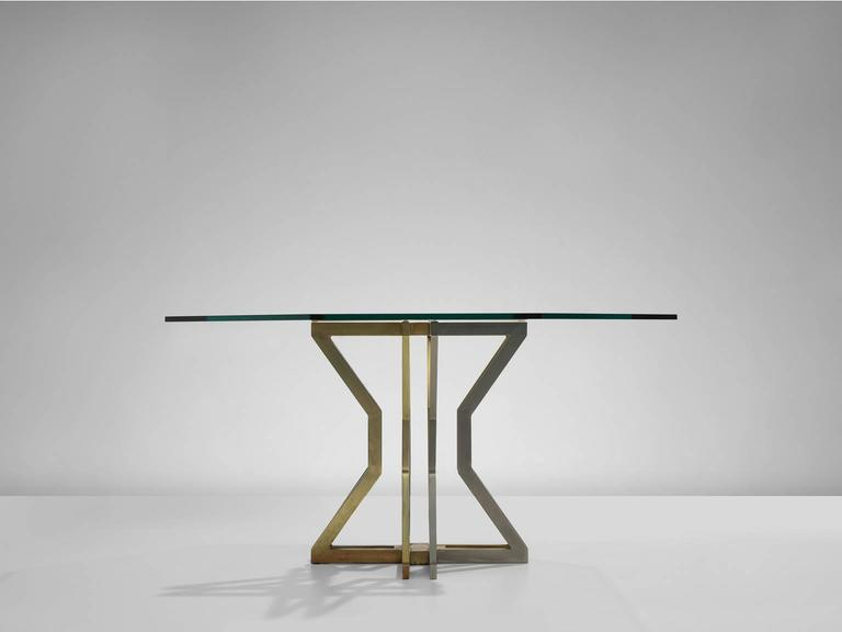 Octagonal belgian dining table with brass foot at 1stdibs for 5 foot dining room table