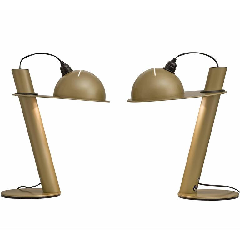 Pair of Table Lamps by Ettore Sottsass for Stilnovo 1