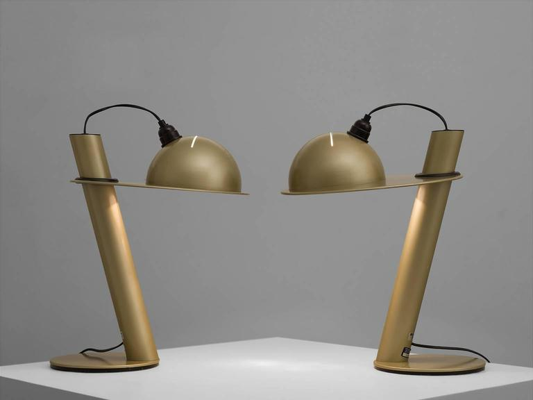 Pair of Table Lamps by Ettore Sottsass for Stilnovo 2