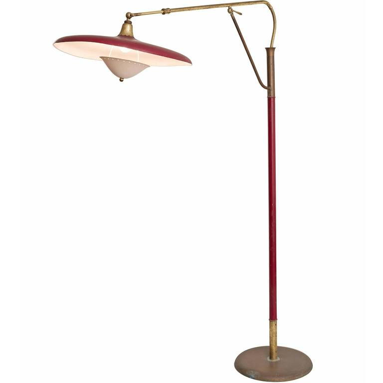 Arredoluce Floor Lamp in Brass, 1950s