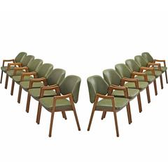 Ico Parisi Large Set of 12 Dining Chairs for Cassina